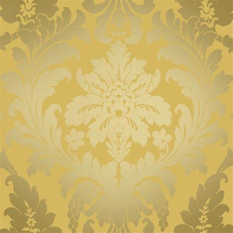 wallpaper large red damask on metallic gold background ebay shimmer metallic grande damask wallpaper mustard gold