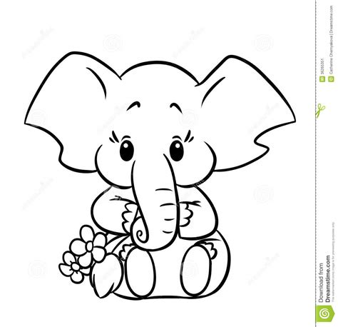 picture to coloring page baby elephant coloring pages to and print for free