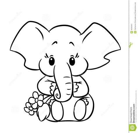 Galerry cute cartoon elephant coloring