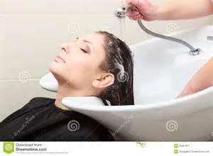 hairstylist washing hair hairdressing salon