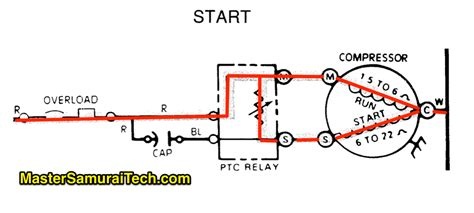 common start run diagram what does the run capacitor do in split phase compressor