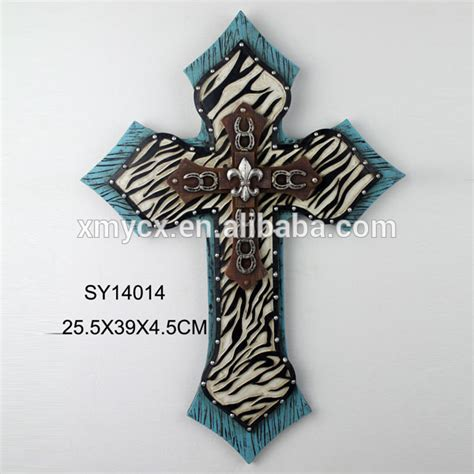 wholesale small wall decor wooden crosses for decoration