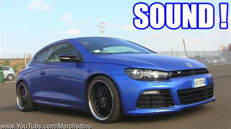 volkswagen scirocco r modified vw scirocco r lovely sound start rev accelerations