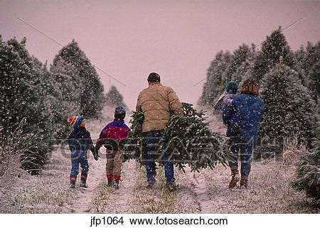 stock photo of family cutting tree jfp1064 search stock images mural