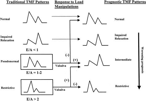 impaired relaxation pattern of lv diastolic filling pseudonormal or intermediate pattern jacc journal of