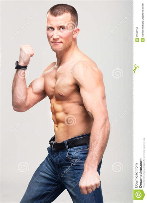 anthony daniels to be strong fitness boxer strong macho man stock photos image 23397553