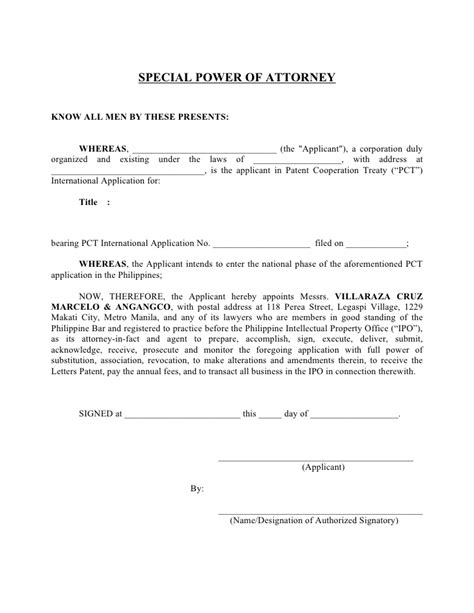 Authorization Letter And Power Of Attorney Special Power Of Attorney