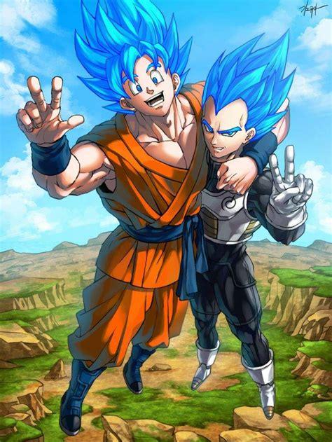 Imagenes De Goku Dios Y Vegeta | goku y vegeta fase dios