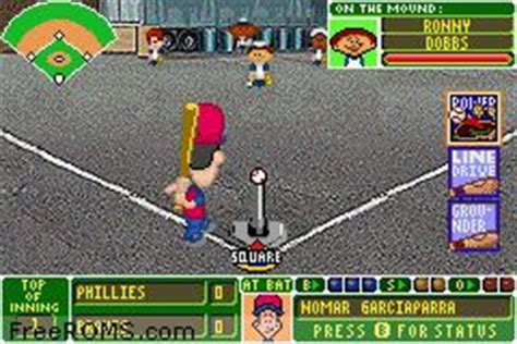 Backyard Baseball Gameboy Advance Gameboy Advance For Backyard Baseball Rom