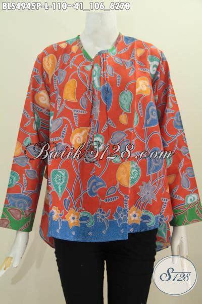 Baju Wafer Ukuran L baju blus orange ukuran l pakaian batik lengan panjang