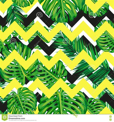 jungle pattern texture abstract tropical leaves seamless pattern vector
