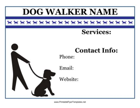 flyer for dog walker