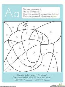 color by letter worksheets color by letter printables