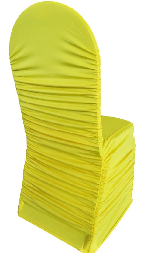 Yellow Chair Covers by Canary Yellow Spandex Chair Covers Wholesale