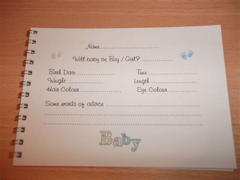 baby shower new baby message advice guest book guess elephant