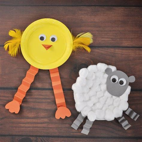 farm animals crafts for make easter animals with paper plates and googly
