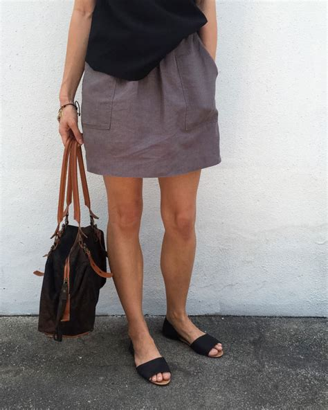 basics pocket skirt womens pdf pattern and tutorial
