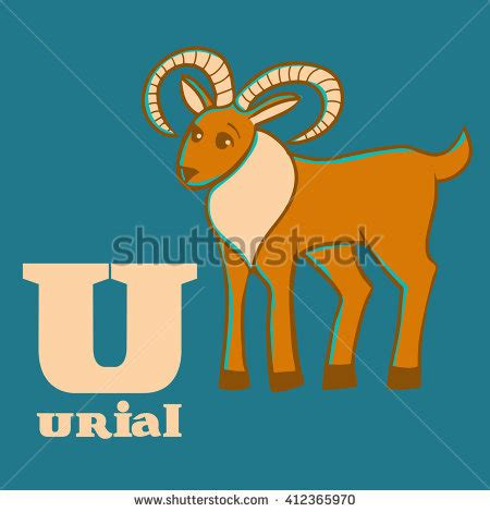 bookmarks animal alphabet u urial v stock vector 119147818 urial stock photos royalty free images vectors
