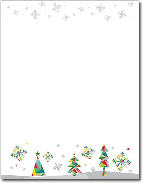 holiday christmas paper christmas tree letterhead