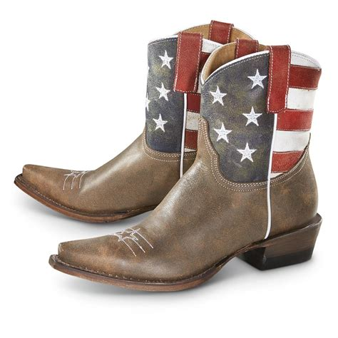 american flag boots roper s american flag cowboy boots brown 649291