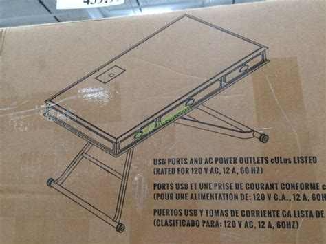 costco stand up desk costco 1048892 turnkey sit n stand desk adjustable height