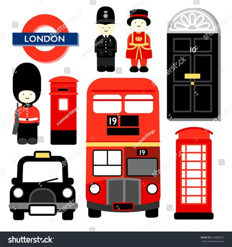 icons of england london popular icons london capital city england vectores en stock 292893857 shutterstock