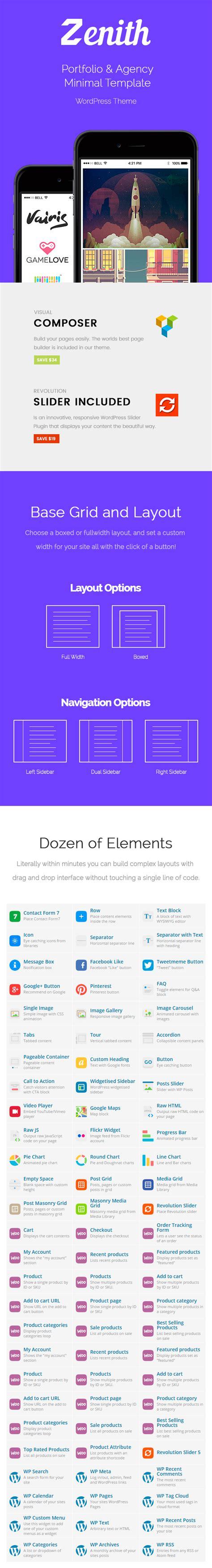 wordpress themes free zenith zenith portfolio multi purpose wordpress theme themes