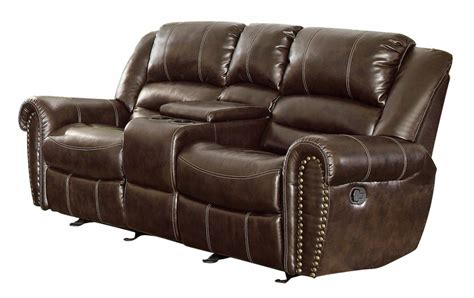 reclining leather reclining sofa loveseat and chair sets two seat reclining