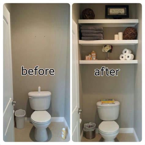 Floating Shelves For Bathroom Diy Water Closet Bathroom Floating Shelves And Decorations Basement Garage Pinterest