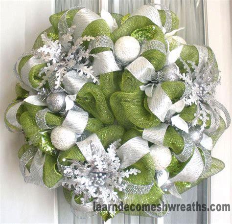 mesh wreath deco mesh wreath christmas 2011 moss silver white jpg 779