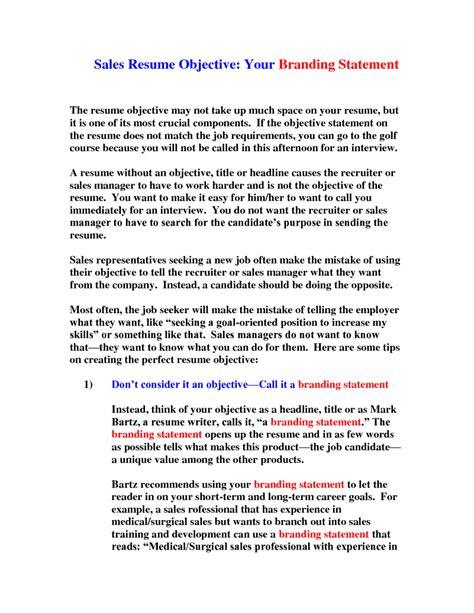 resume objective statement for sales resume pinterest resume