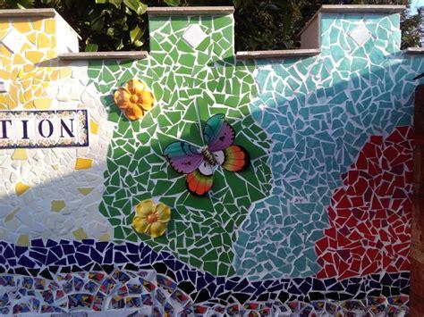 mosaik im garten soulous marion heine besteckschmuck leder