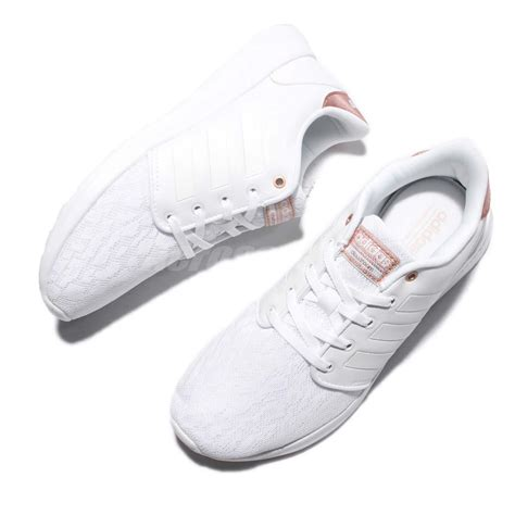 Adidas Neo Gold Import For adidas cloudfoam qt racer w white gold running