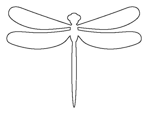 dragonfly template free dragonfly pattern use the printable outline for crafts