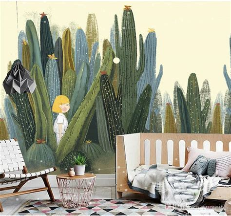 large  cacti wall murals photo wallpaper  living room