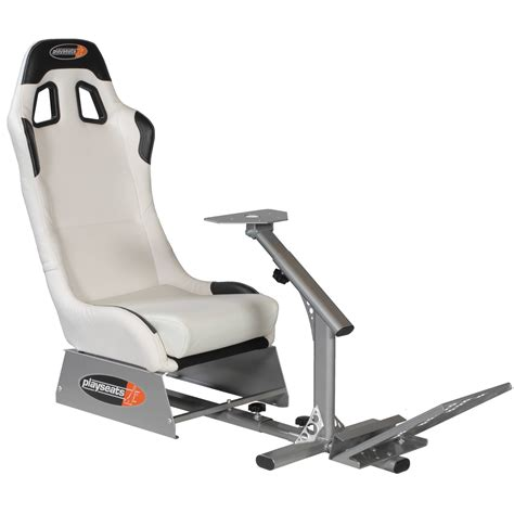 siege de jeux playseats evo si 232 ge simulation automobile blanc base
