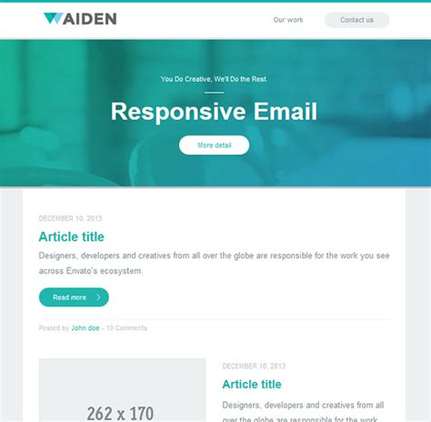 email template ideas 30 beautiful email newsletter templates