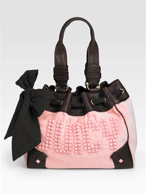 Handbag Find Of The Day Couture by Couture Day Dreamer Studded Tote In Pink Black Lyst