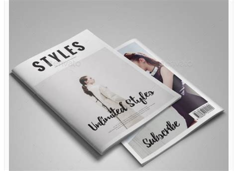 image gallery magazine template