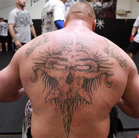 the style of tattoo brock lesnar tattoos