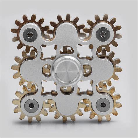 5 Gear Fidget Spinner Edc Fidget Spinner 9 gear steunk spinner fidget focus aluminum brass edc