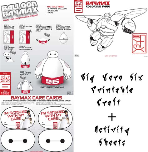 printable heroes instructions big hero 6 printable craft activity sheets momstart