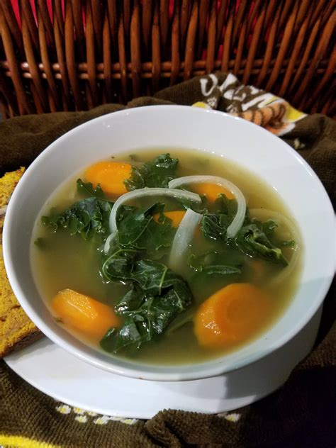 Detox Broth Recipe by Kale Carrot Detox Soup Recipe With Infused Coriander And