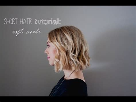 short hair perm loose curl how to short hair tutorial soft curls for summer weddings