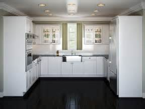 amazing Average Price For Kitchen Cabinets #1: Small-White-U-Shaped-Kitchen-Layouts.jpg