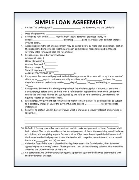 simple agreement simple agreement template best free home