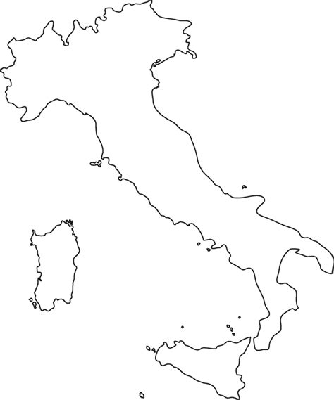 coloring page map of italy italy outline map