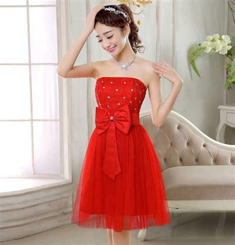 Dress Merah Kombi Brukat gaun pesta bahan tile kombinasi brokat dan satin
