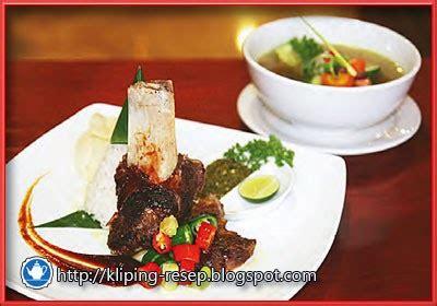 resep soup iga bakar malabar ala chef mulyoko kliping resep