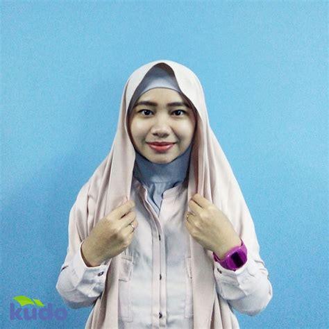 tutorial hijab ala blogger ikuti tutorial hijab ala kudo berikut ini